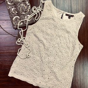 Banana Republic Mad Men Eyelet Tank
